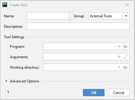 PyCharm external tools